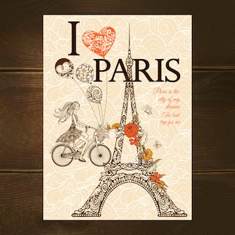 Poster vintage paris