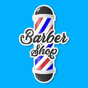 Postes de barbearia com listras. ilustração