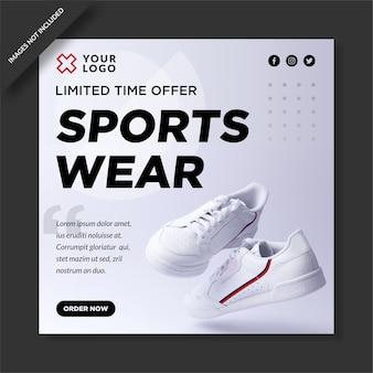Posto de venda de roupas esportivas