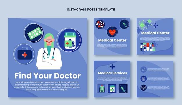 Posto ig médico de design plano médico