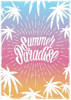 Postrer vintage colorido de verão