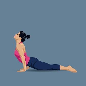 Postura de cão para cima de ioga