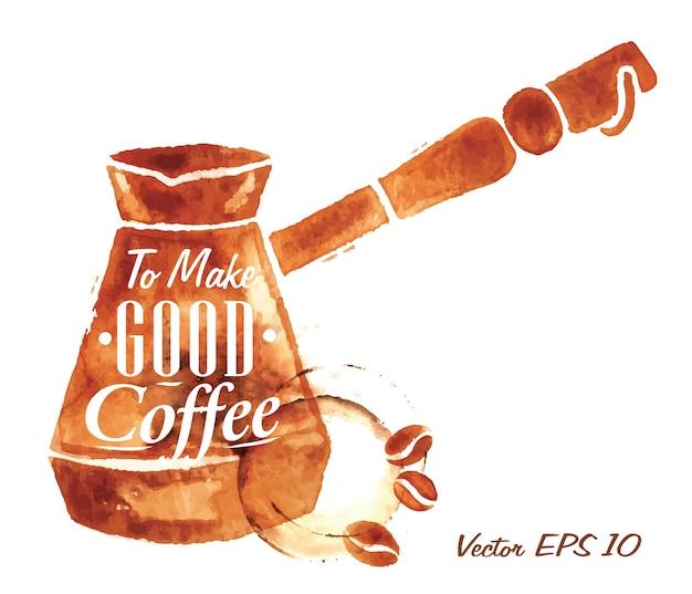 Pote de café turco