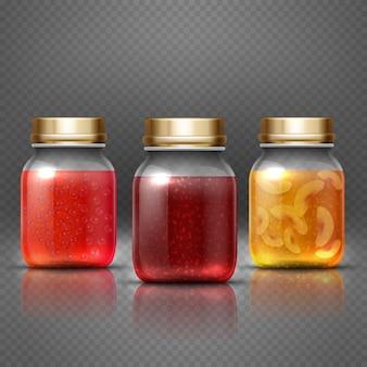 Pote de comida recipiente de vidro
