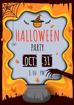 Pote de festa de halloween