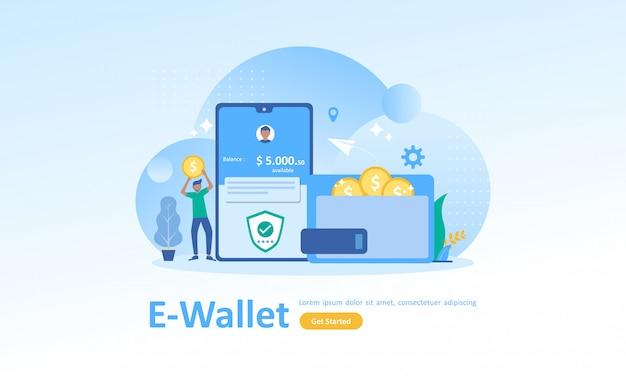 Poupança financeira e pagamento online