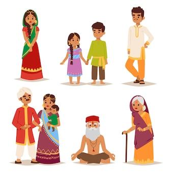 Povo indiano de ilustração.