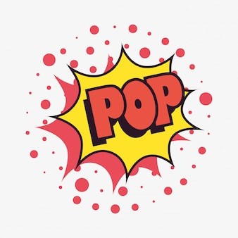 Pow comic speech bubble fundo de pontos de arte pop