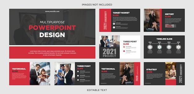Powerpoint cinza vermelho escuro