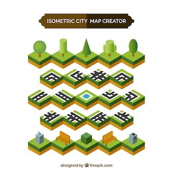 Praças isométricos para criar uma cidade