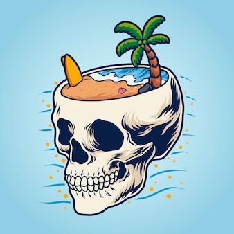 Praia da cabeça do crânio