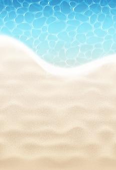 Praia de areia e mar