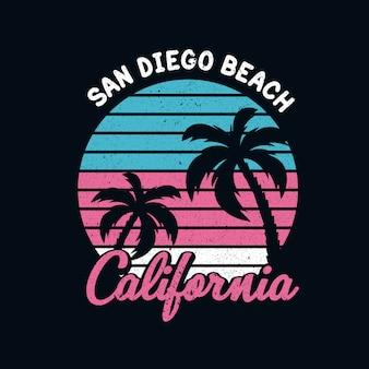 Praia de ilustração da califórnia