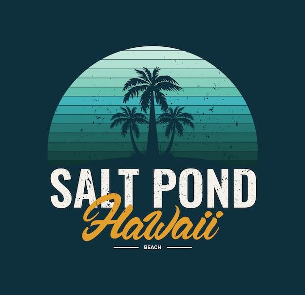 Praia de lagoa de sal do havaí