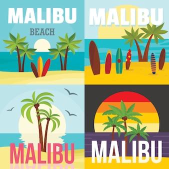 Praia de malibu surf tropical