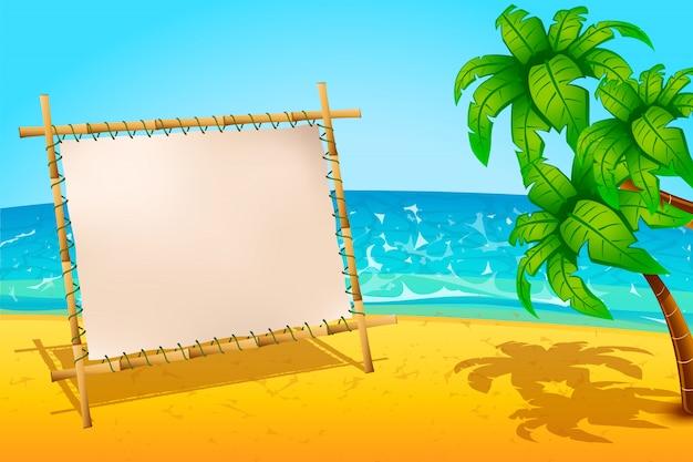 Praia de prancha Vetor Premium