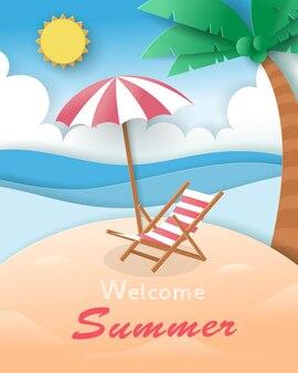 Praia de verão bem vinda