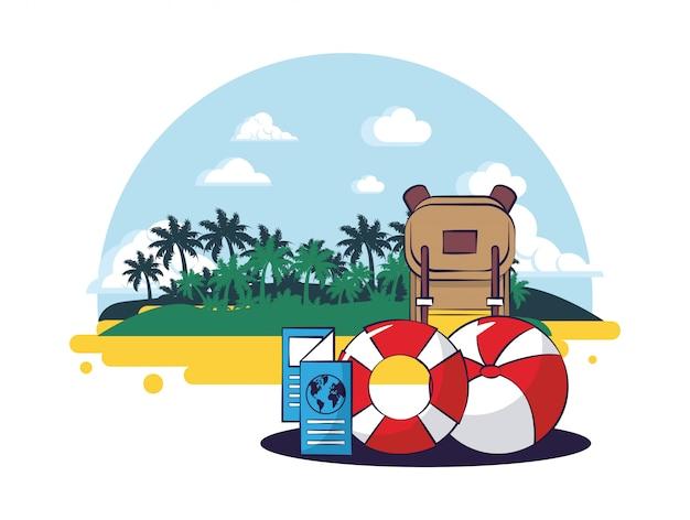 Praia e verão