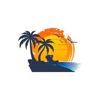 Praia logotipo vetores