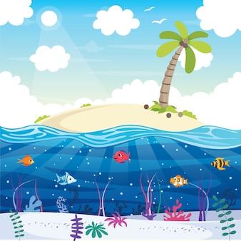 Praia no verão