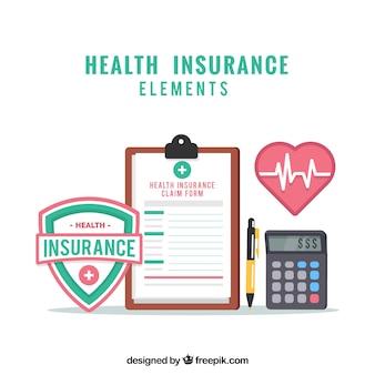 Prancheta, cardiologia, calculadora e escudo