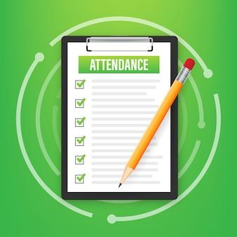 Prancheta de atendimento com lista de verificação. empresário segurando o documento. questionário, pesquisa. ilustração de estoque vetorial