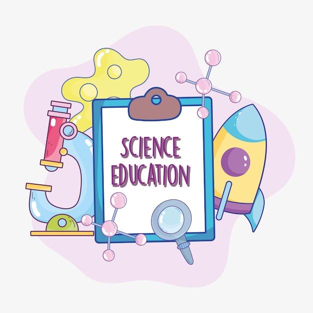 Prancheta de educação científica