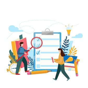 Prancheta de lista de verificação. questionário, pesquisa, lista de tarefas.