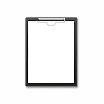 Prancheta realista com folha em branco
