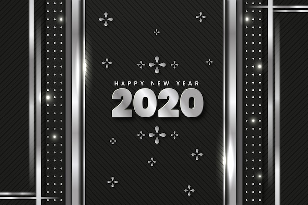 Prata de ano novo de plano de fundo