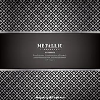 Prata metálica e fundo preto