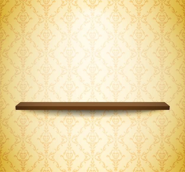 Prateleira de madeira na parede