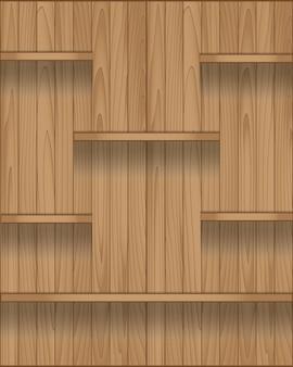 Prateleira de madeira vazia design moderno