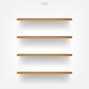 Prateleira de madeira.