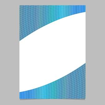 Prateleira de padrão de grade curvado colorido com gradiente moderno abstrato, modelo de folheto
