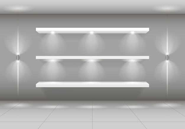 Prateleira de vitrine para mercadorias