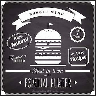 Prateleira do menu hamburger