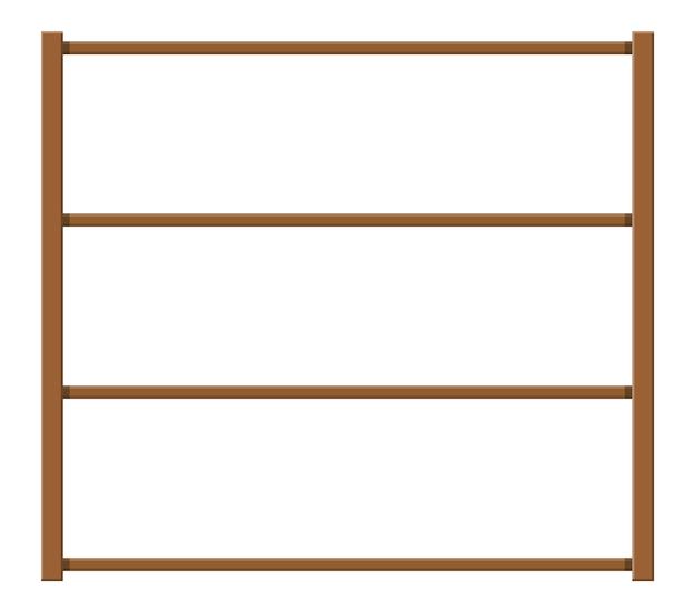 Prateleiras de armazenamento de madeira vazias.