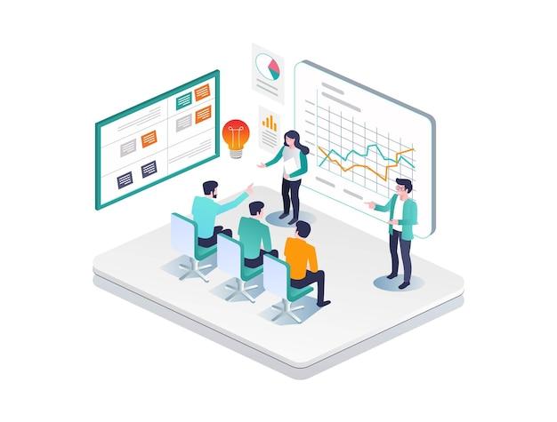 Prática de ações e negociação de investimentos empresariais