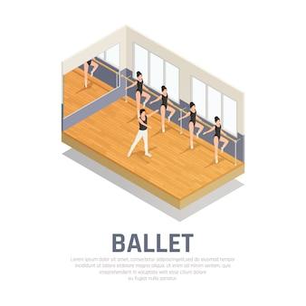 Prática de balé de teatro