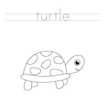 Prática de caligrafia para crianças em idade pré-escolar.