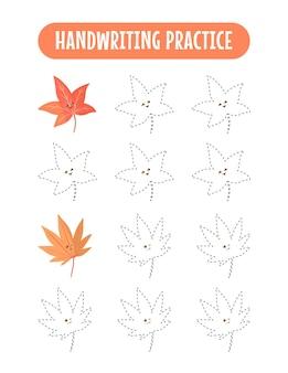 Prática de caligrafia traçando linhas de jogo de prática de escrita infantil para crianças educativas