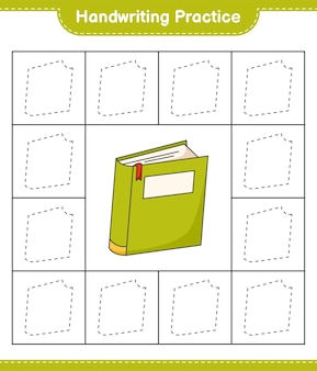 Prática de caligrafia traçando linhas do livro folha de trabalho para impressão do jogo educativo para crianças