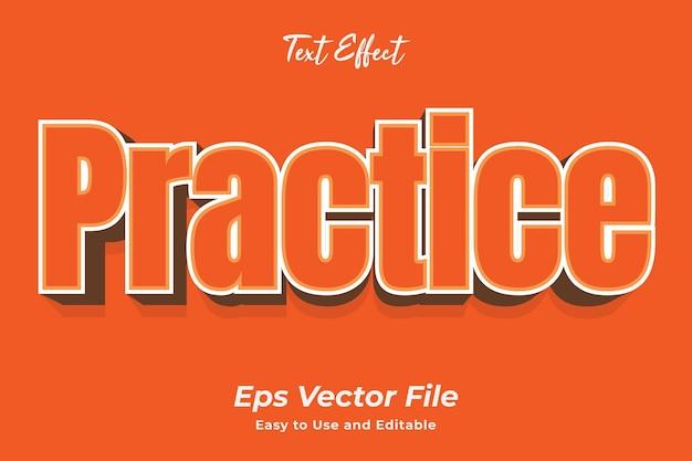 Prática de efeito de texto simples de usar e editar vetor de alta qualidade