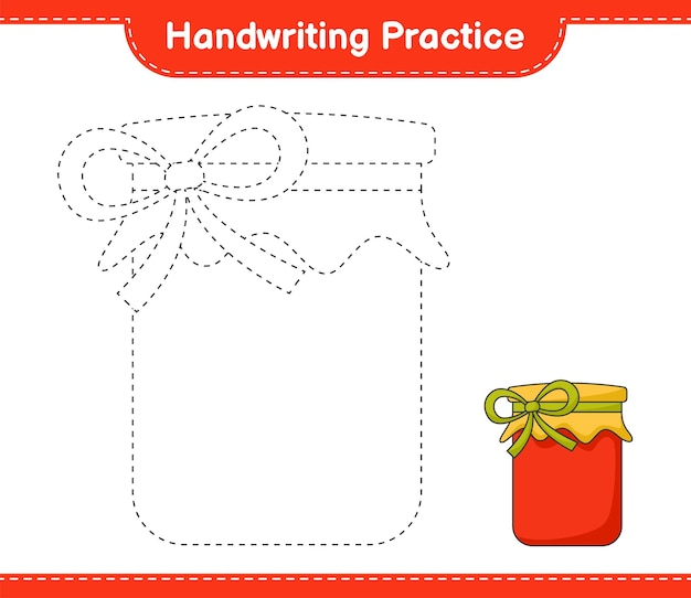 Prática de escrita à mão traçando linhas da planilha para impressão do jogo infantil jam educacional