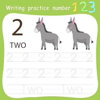 Prática de escrita da planilha número dois