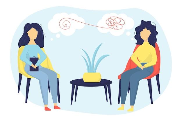 Prática de psicoterapia ajuda psicológica psiquiatra consultando paciente
