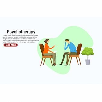 Prática de psicoterapia, paciente consultor psiquiatra. tratamento de transtorno mental. ilustração vetorial