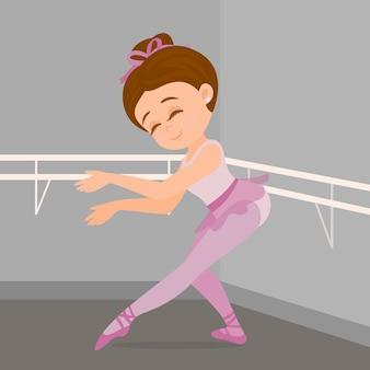 Praticando dança de balé