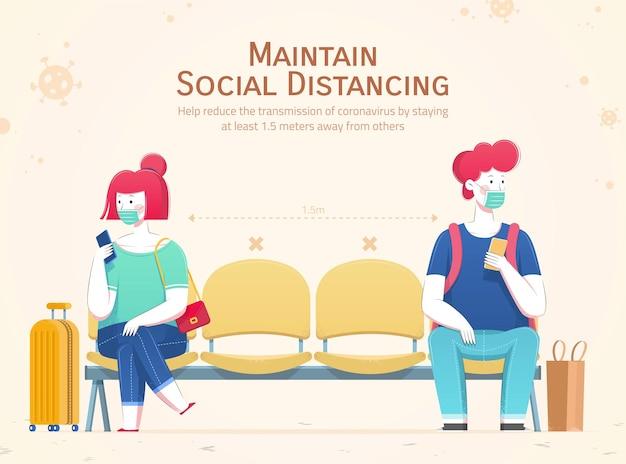 Pratique o distanciamento social